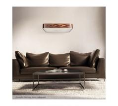 Lampa wisząca Ramko Domino 65 8xE14 kwadratowa drewniana