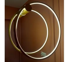 Kinkiet LED Ramko Echo 120 48W 3000K okrągła biała czarna złota