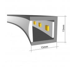 Plafoniera LED Ramko Echo 90 38W 3000K okrągła biała czarna złota