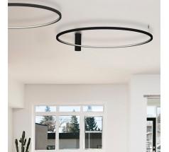 Plafoniera LED Ramko Echo 120 48W 3000K okrągła biała czarna