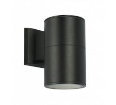 Kinkiet Su-ma Adela E27 mały okrągły czarny srebrny