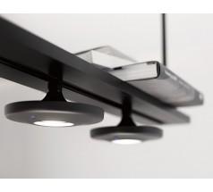 Lampa wisząca LED Estiluz Button 4x10W 930 T-3306 biały czarny szary