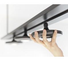 Lampa wisząca LED Estiluz Button T-3306 4x10W biały czarny szary
