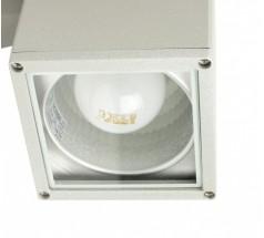 Kinkiet Su-ma Adela E27 duża kwadratowa srebrna czarna popiel