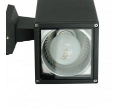 Kinkiet Su-ma Adela E27 mały kwadratowy czarny srebrny popielaty