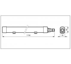 Oprawa hermetyczna LED PHILIPS WT055C 33W 840 1200mm 792985