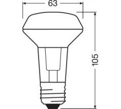 Żarówka LED Ledvance Parathom R63 E27 4,3W