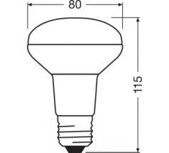 Żarówka LED LEDVANCE PARATHOM R80 E27 9,1W