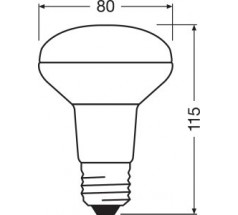Żarówka LED Ledvance ParathomDIM R80 E27 5,9W