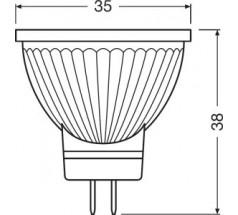 Żarówka LED LEDVANCE PARATHOM MR11 DIM 4,5W