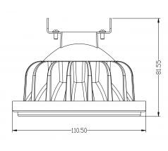 Żarówka LED OXYLED AR111 G53 15W 30° srebrna