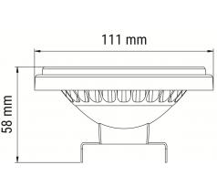 Żarówka LED OXYLED AR111 G53 biała/ czarna
