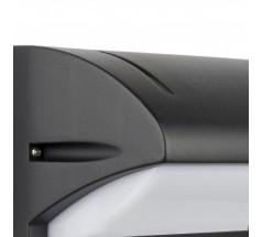 Ogrodowy Kinkiet Su-ma Nelly 25cm E27 czarny srebrny