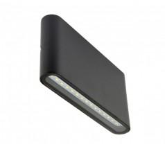Ogrodowy Kinkiet Su-ma Slim LED 3000K 12W czarny