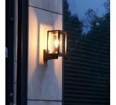 Ogrodowy Kinkiet na żarówkę Su-ma Porto 27,5cm E27 kwadratowy czarny