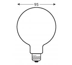 Żarówka LED GLOBE OXYLED E27 180° 3000K