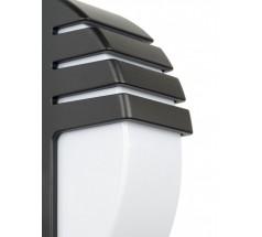 Kinkiet na żarówkę Su-ma City E27 czarny srebrny