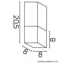 Ogrodowa Plafoniera na żarówkę Su-ma Cube E27 kwadratowa czarna srebrna popielata