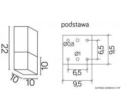 Ogrodowa Plafoniera na żarówkę Su-ma Cube Max E27 kwadratowa czarna srebrna popielata