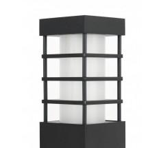 Słupek na żarówkę Su-ma Rado II 1 75cm E27 kwadratowy czarny srebrny popielaty