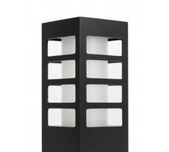 Ogrodowy Kinkiet Su-ma Rado III K E27 kwadratowy czarny srebrny popielaty