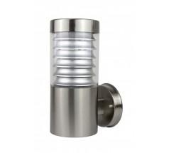 Ogrodowy Kinkiet Su-ma Joy E27 okrągły srebrny