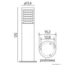 Ogrodowy słupek Su-ma Joy 50cm E27 okrągły srebrny