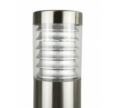 Ogrodowy słupek na żarówkę Su-ma Joy 75cm E27 okrągły srebrny