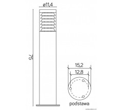 Ogrodowy słupek Su-ma Joy 75cm E27 okrągły srebrny