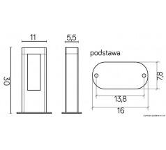 Słupek LED Su-ma Evo prostokątny szary 4000K