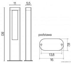 Ogrodowy słupek LED Su-ma Evo 80cm 4000K 20Wp