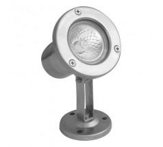 Ogrodowy Reflektor na żarówkę Su-ma Emy GU5,3 okrągły srebrny