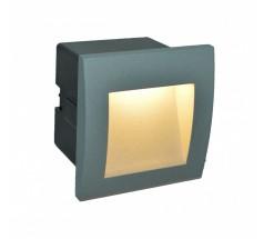 Ogrodowy Kinkiet Su-ma Mur-LED 3000K 1,5W kwadratowy popielaty