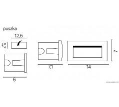Oprawa elewacyjna Su-ma Mur-LED 3000K 3W prostokątny popielaty