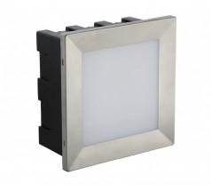 Oprawa elewacyjna Su-ma Mur-LED-inox D 3000K 3,5W kwadratowy srebrny
