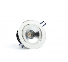 Oprawa podtynkowa LED OXYLED BRADI biała okrągła 3000K