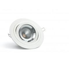 Oprawa podtynkowa LED OXYLED PRESCO okrągła biała 3000K różne moce
