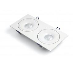 Oprawa podtynkowa LED OXYLED STILLO DUE prostokątna 8W 15W biała czarna