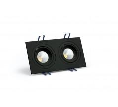 Oprawa podtynkowa LED OXYLED MODI prostokątna podwójna 6W 10W biała czarna