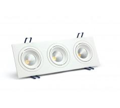 Oprawa podtynkowa LED OXYLED MODI prostokątna potrójna 6W 10W biała czarna