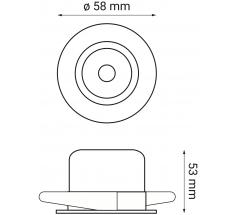 Oprawa podtynkowa LED OXYLED PRADI okrągła 6W 10W biała czarna