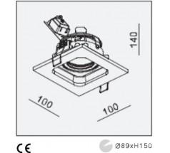 Oprawa podtynkowa na żarówkę Mistic MiniQuad GU5.3 12V biała czarna