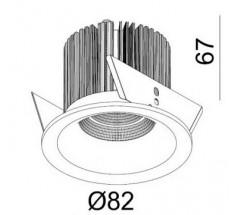 Oprawa podtynkowa LED Mistic Eyelet 6,2W 830 840 TRIAC biała