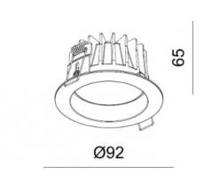 Lampa podtynkowa LED Mistic miniEYEROUND wodoodporna IP44 6W 830 840 biała
