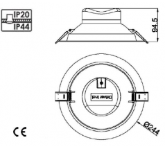 Lampa podtynkowa LED Mistic Ecoeye wodoodporna IP44 25W 840 830 biała