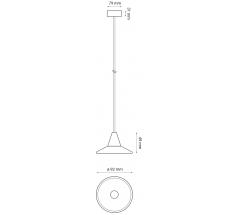 Zestaw lamp wiszących LED OXYLED TINO+ETRO+CONO 3x7W 3000K CRI90 biała czarna brązowa