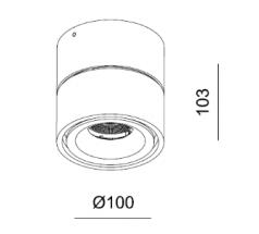 Lampa natynkowa LED Mistic Broken 9W 14W DIM 830 840 biała czarna