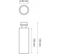 Oprawa LED OXYLED ARDIZONE zestaw 1 biały czarny