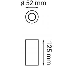 Oprawa LED OXYLED ARDIZONE zestaw 2 biały czarny