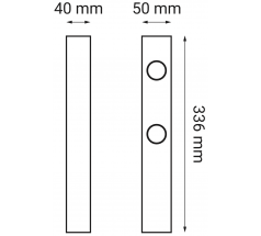 Oprawa LED OXYLED ARDIZONE zestaw 3 biały czarny
